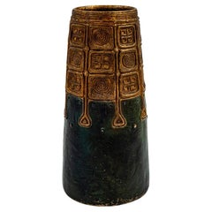 Austrian Jugendstil Bronze Vase Gustav Gurschner circa 1906 Brown Patinated
