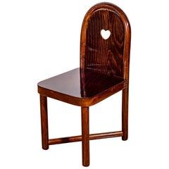 Austrian Jugendstil Children's Chair Bent Beechwood Mahogany Stain Prutscher
