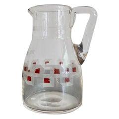 Austrian Jugendstil Glass Milk Jar