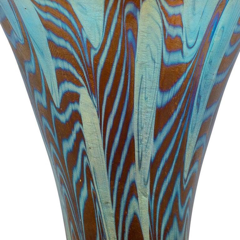 Austrian Jugendstil Loetz Mouth-blown Glass Vase Dekor Argus, circa 1902 For Sale 1