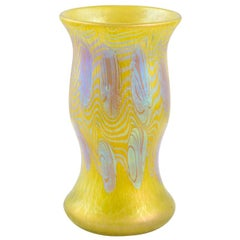Austrian Jugendstil Mouth-Blown Glass Vase Loetz PG 3/430 circa 1903 Yellow