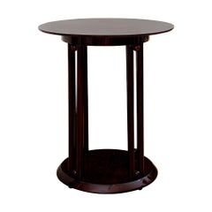 Austrian Jugendstil Round Table Mahogany Stained Josef Hoffmann circa 1906