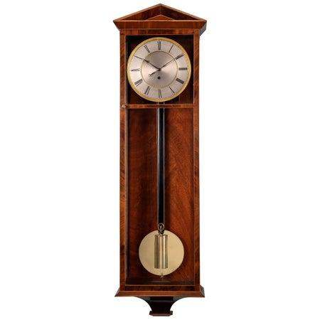 Austrian Mahogany Veneered 'Dachluhr' Regulator Timepiece