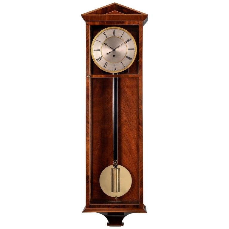 Austrian Mahogany Veneered 'Dachluhr' Regulator Timepiece