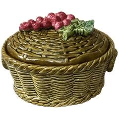 Austrian Majolica Gooseberries Basket, circa 1920