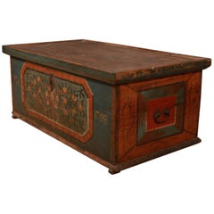 Austrian Marriage Coffer / Storage Chest