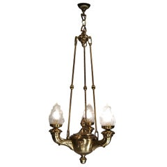 Austrian Mastercraft 1920 Ceiling Lamp, Original