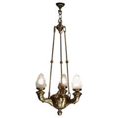 "Austrian Mastercraft 1920 ""Versace"" Ceiling Lamp, Original"
