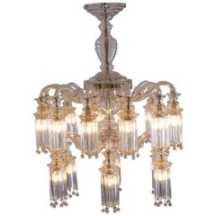 Austrian Mastercraft Glass Chandelier, Original Art Deco, 1919