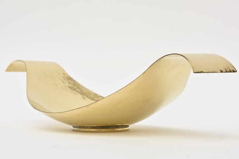 Mid-20th Century Werkstatte Hagenauer Austrian Brass Bowl Mid-Century Modern For Sale