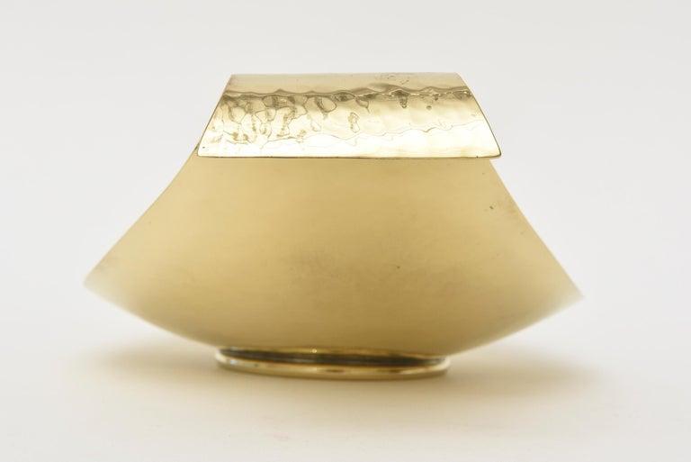 Werkstatte Hagenauer Austrian Brass Bowl Mid-Century Modern For Sale 5