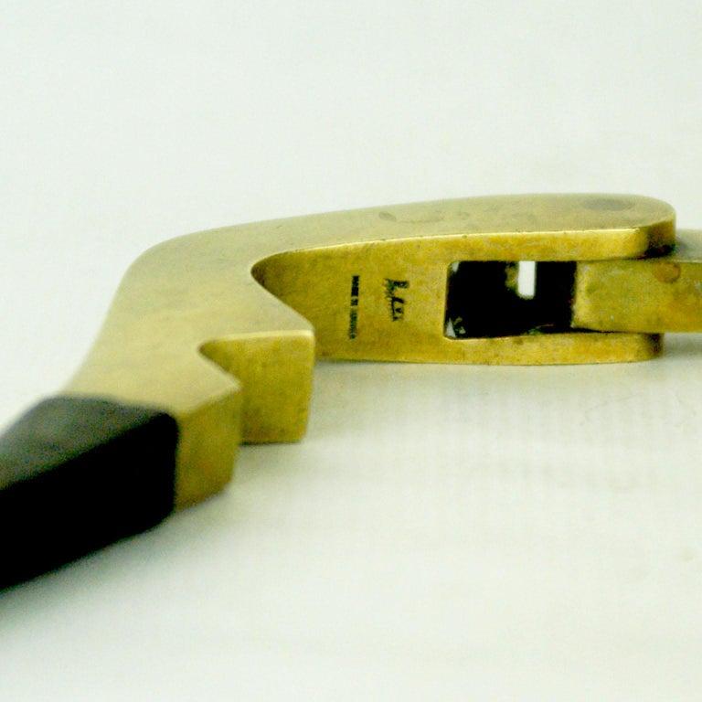 Austrian Midcentury Brass and Leather Nutcracker by Carl Auböck For Sale 2