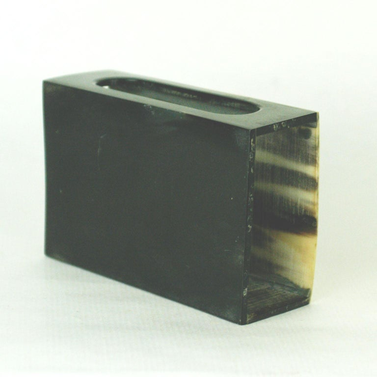 Austrian Midcentury Horn Matchbox Holder by Carl Auböck In Good Condition For Sale In Vienna, AT