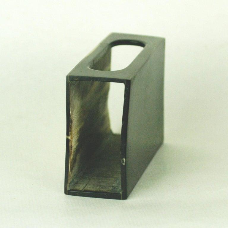 Austrian Midcentury Horn Matchbox Holder by Carl Auböck For Sale 1