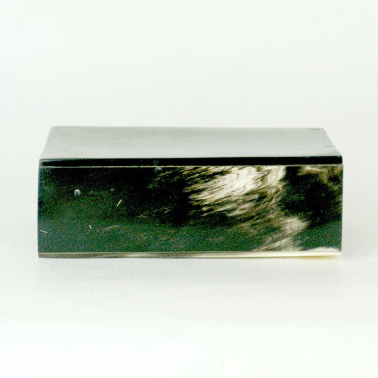 Austrian Midcentury Horn Matchbox Holder by Carl Auböck For Sale 2