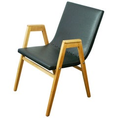 Austrian Midcentury Beech Stacking Armchair by Roland Rainer