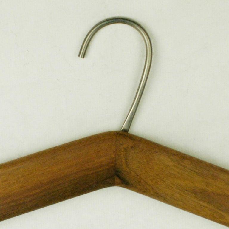 Mid-Century Modern Austrian Midcentury Walnut Cloth Hanger by Carl Auböck For Sale