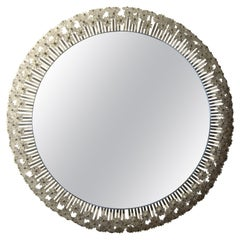 Austrian Mirror by Emil Stejnar for Rupert Nikoll with Glass Blossoms
