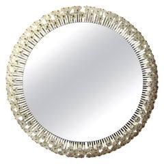 Austrian Mirror with Glass Blossoms by Emil Stejnar for Rupert Nikoll