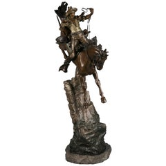 "Austrian Polychrome Bronze Sculpture ""Desperado"" by Carl Kauba"