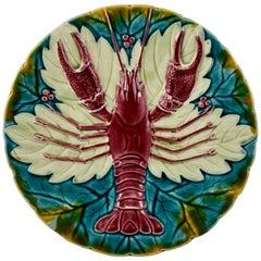 Austrian Schutz Cilli, Blansko Majolica Lobster Plate