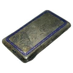 Austrian Silver and Enamel Cigarette Case, Antique, circa 1910