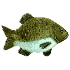 Austrian Small Majolica Fish Platter Krause, circa 1890