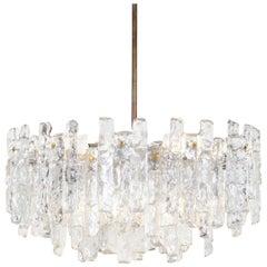 Austrian 'Soria' Ice Glass Chandelier by J.T. Kalmar
