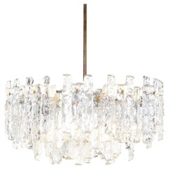 Austrian 'Soria' Ice Glass Chandelier by J.T. Kalmar