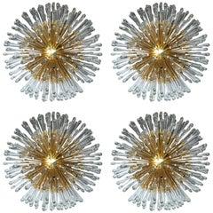 Austrian Sputnik Light Fixtures with 20 Lights, Set of Four