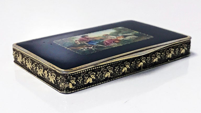Austrian Sterling Enamel Box, circa 1920 In Good Condition For Sale In Toronto, ON