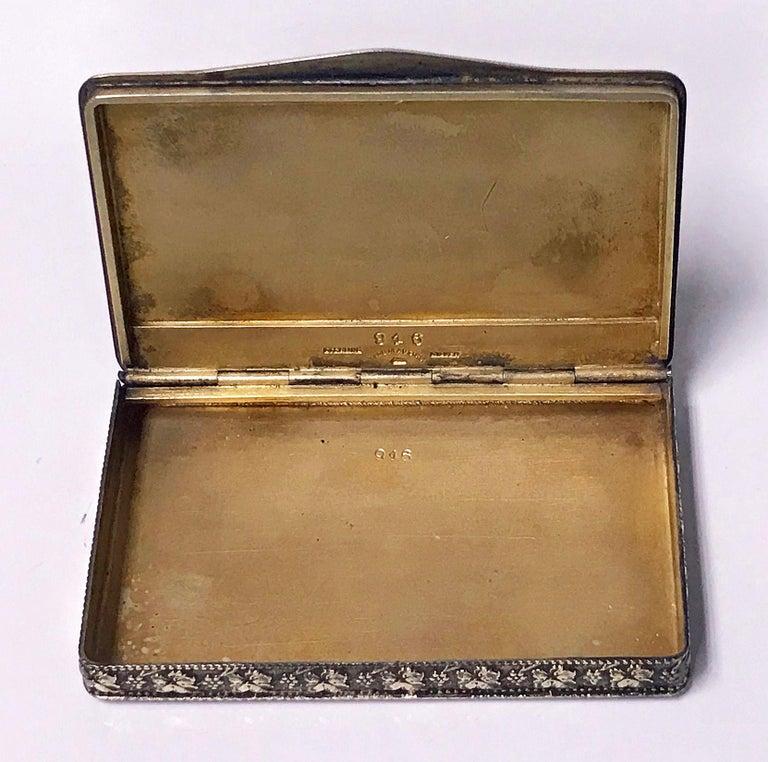 Austrian Sterling Enamel Box, circa 1920 For Sale 1