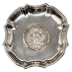 Austrian Sterling Silver Coin Dish