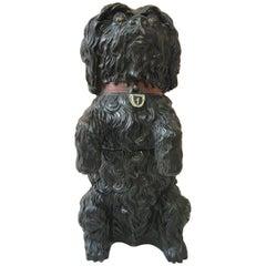Austrian Terracotta Dog Tobacco Jar, circa 1890