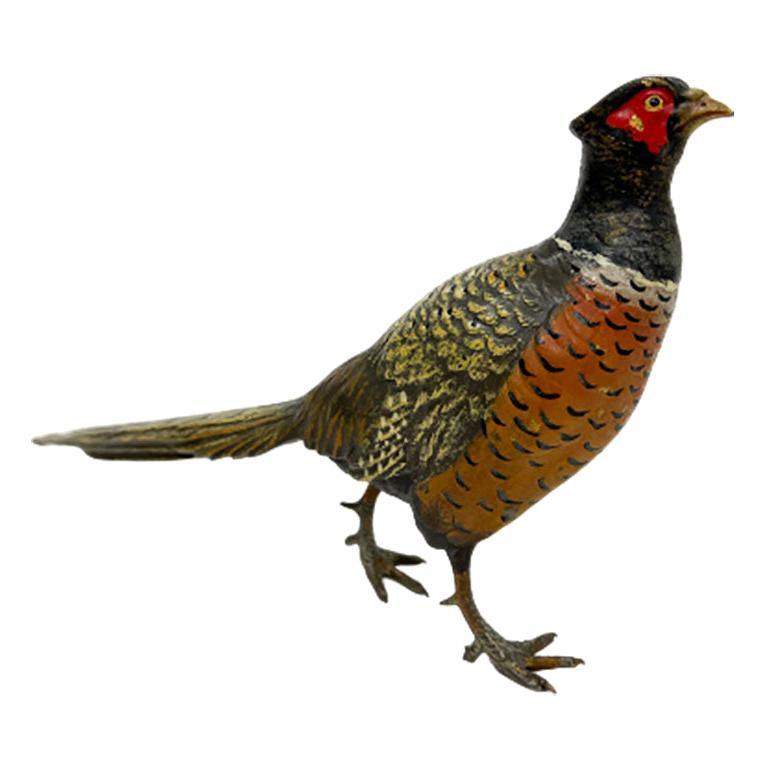 Austrian Viennese Bronze Pheasant, ca. 1900