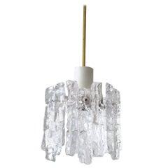 Austrian Vintage Blown Glass Ceiling Light Pendant or Flush Mount, 1960s