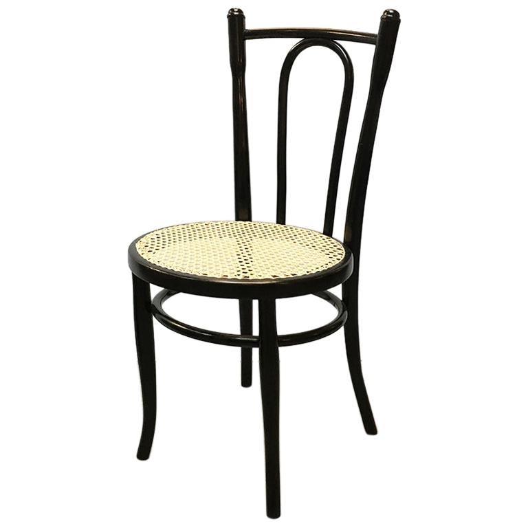 Austrian Wood and Handmade Vienna Straw Fischel Chair by Thonet, 1900s