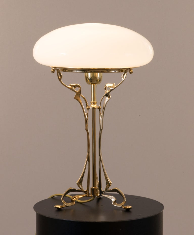 Austro-Hungarian 20th Century Floral Viennese Jugendstil Table Lamp  2