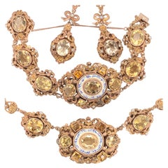 Austro-Hungarian Necklace, Bracelet and Earring Set
