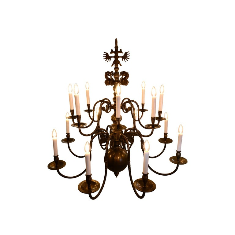 Baroque Revival Very large Baroque Style Chandelier 1920 / Original Austro-Hungarian For Sale