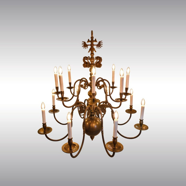 European Very large Baroque Style Chandelier 1920 / Original Austro-Hungarian For Sale