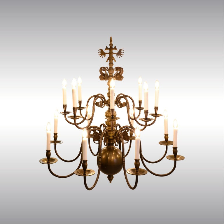 Hand-Crafted Very large Baroque Style Chandelier 1920 / Original Austro-Hungarian For Sale