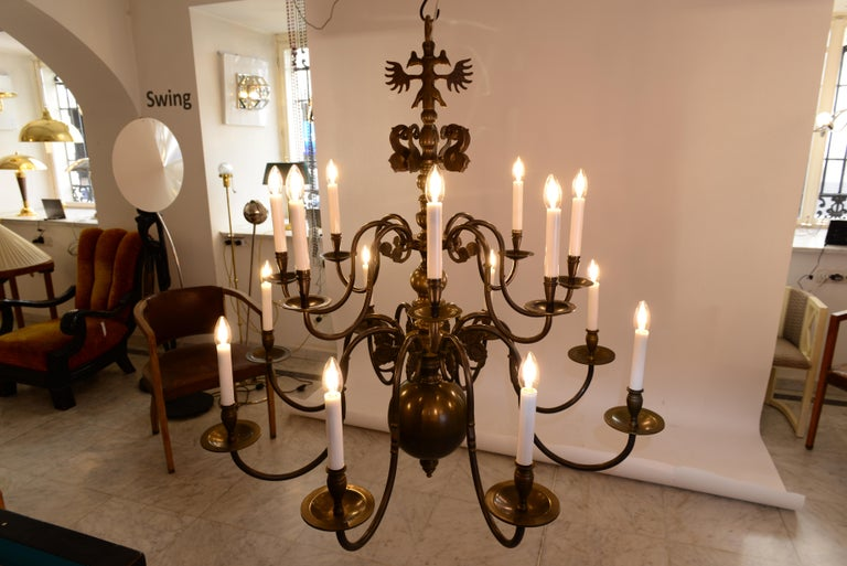 Early 20th Century Very large Baroque Style Chandelier 1920 / Original Austro-Hungarian For Sale