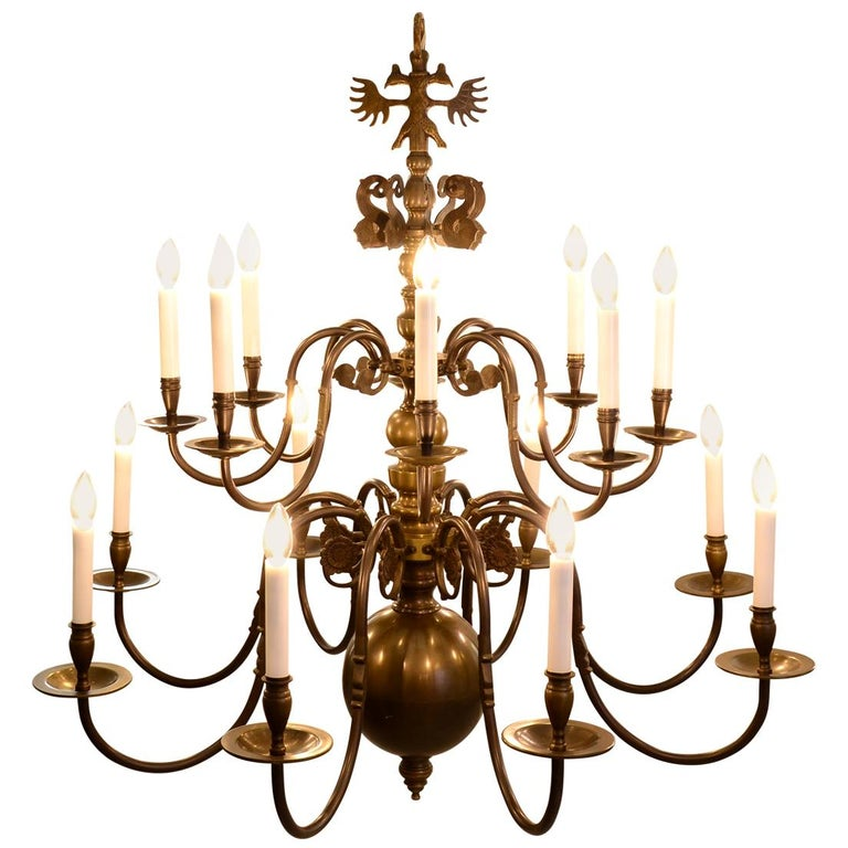 Very large Baroque Style Chandelier 1920 / Original Austro-Hungarian For Sale