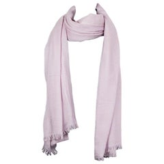 auth HERMES pale lavender cashmere  Shawl Scarf