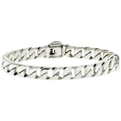 Authentic Tiffany & Co. 925 Sterling Silver Men's Curb Link Bracelet