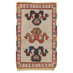 Authentic %100 Natural Wool Turkish Rug, Wall Hanging, Seat Cover or Door Mat
