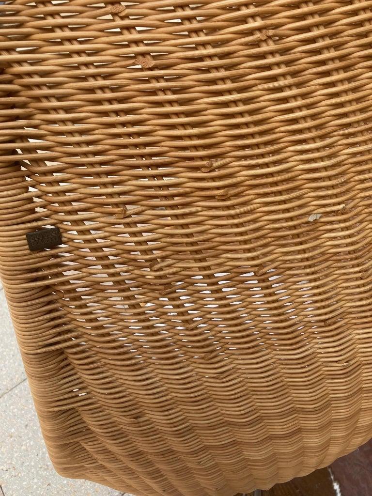 Rare Nanna Ditzel for Bonacina Pierantonio Egg Shaped Hanging Woven Cane Chair For Sale 1