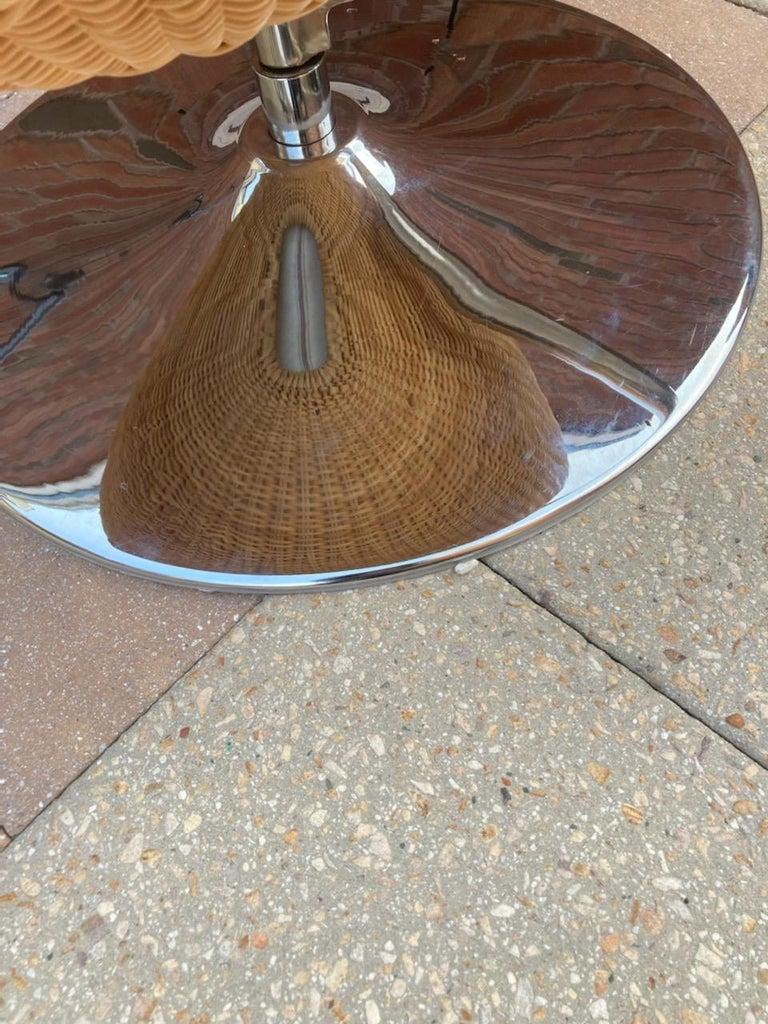 Rare Nanna Ditzel for Bonacina Pierantonio Egg Shaped Hanging Woven Cane Chair For Sale 2