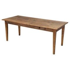 Authentic Antique French Oak Farm House Table Unrestored All Original Condition